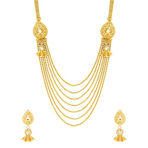 33b02b319f8b Buy Voylla Classic Gold Plated Sanskriti Rani Haar Necklace Set Online at  Low Prices in India