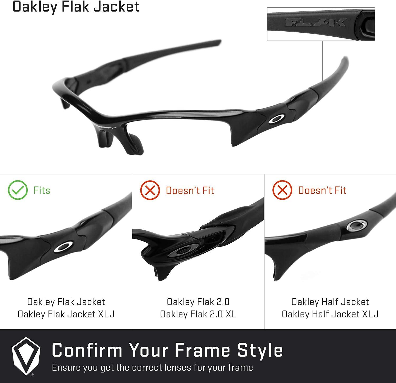 Revant Verres de Rechange pour Oakley Flak Jacket (Coupe Asiatique) Gris Ardoise - Polarisés