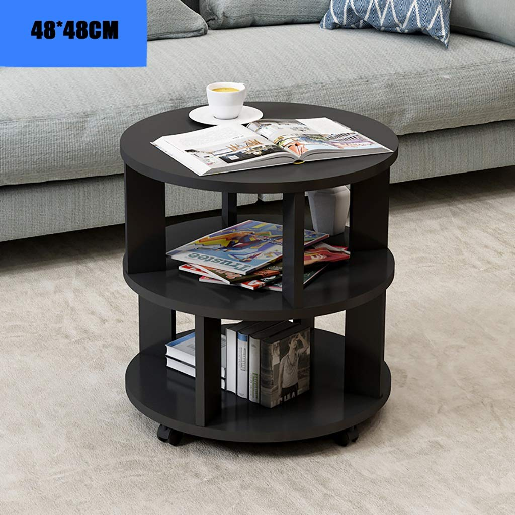 Garde Side Table, Simple Mini Bedroom Modern Home Small Coffee Table, Solid Wood Creative Casual Negotiation Small Table (Color : A, Size : 4848CM) by Garde