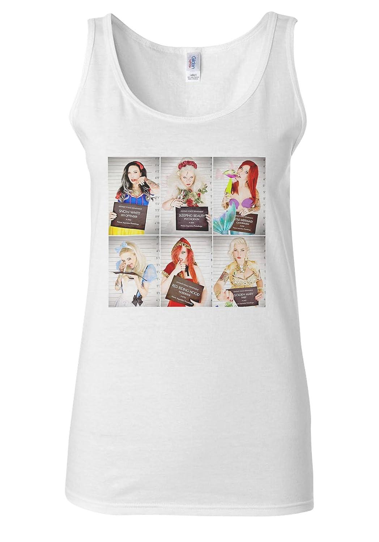 All Princess Gone Bad Girls Mugshot Funny White Women Vest Tank Top
