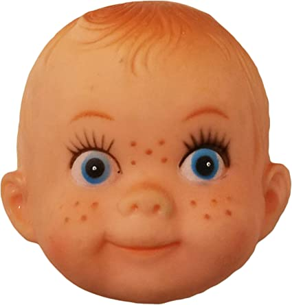 Vintage Vinyl Baby Head with Freckles