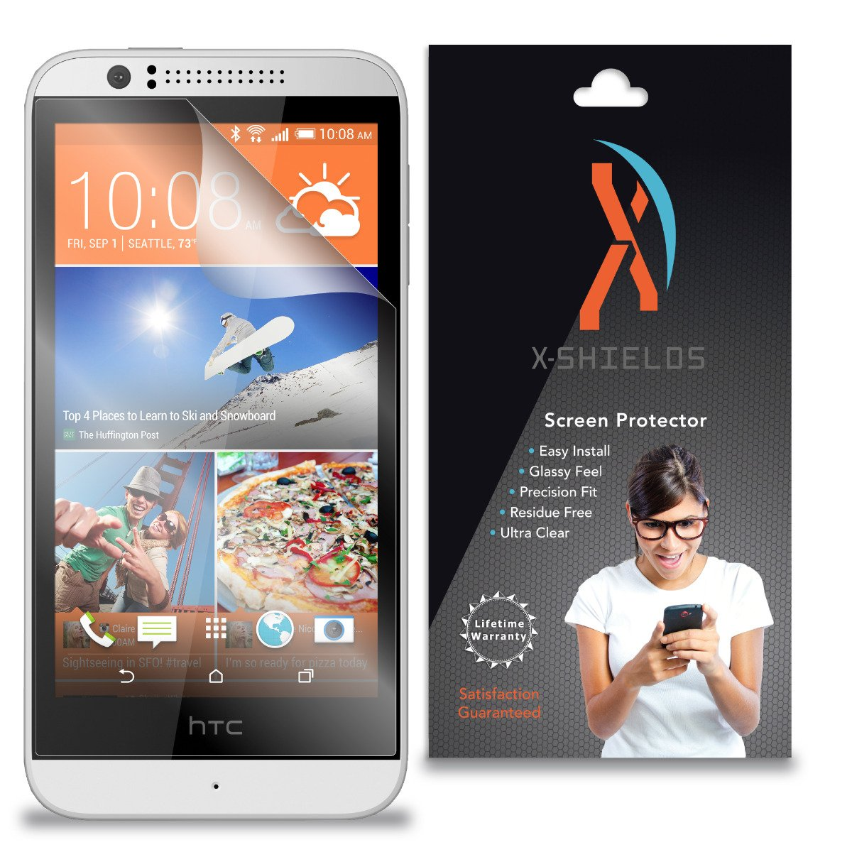 XShields© (5-Pack) Screen Protectors for HTC Desire 510 (Ultra Clear)