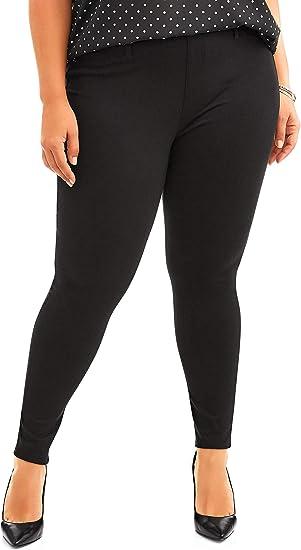 New Womens 0X 14W Gray Leggings Terra /& Sky Mid-Rise Stretch Generous Fit