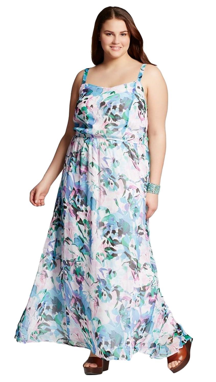 J\'aime Jaime Women\'s (Juniors\') Plus Size Floral Printed Maxi Dress ...