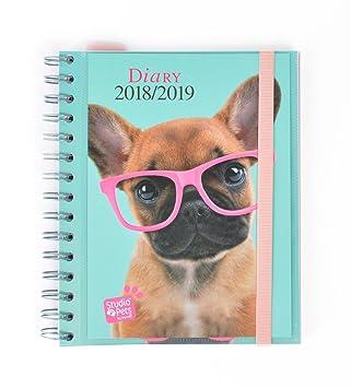 Grupo Erik Editores - Agenda escolar Studio Pets Perro 2018/2019 Semana vista, Multilingüe, 15,5 x 19 cm