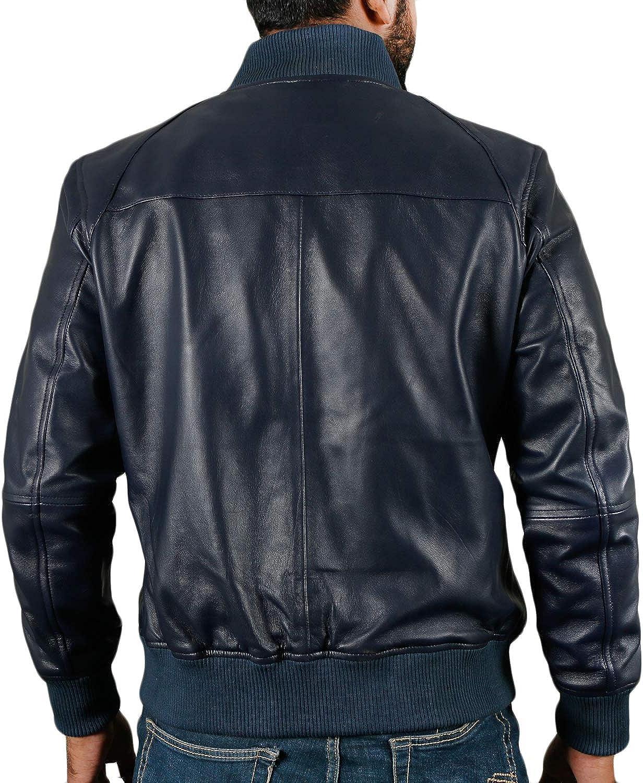 1501361 Black, Bomber Jacket Laverapelle Mens Genuine Lambskin Leather Jacket
