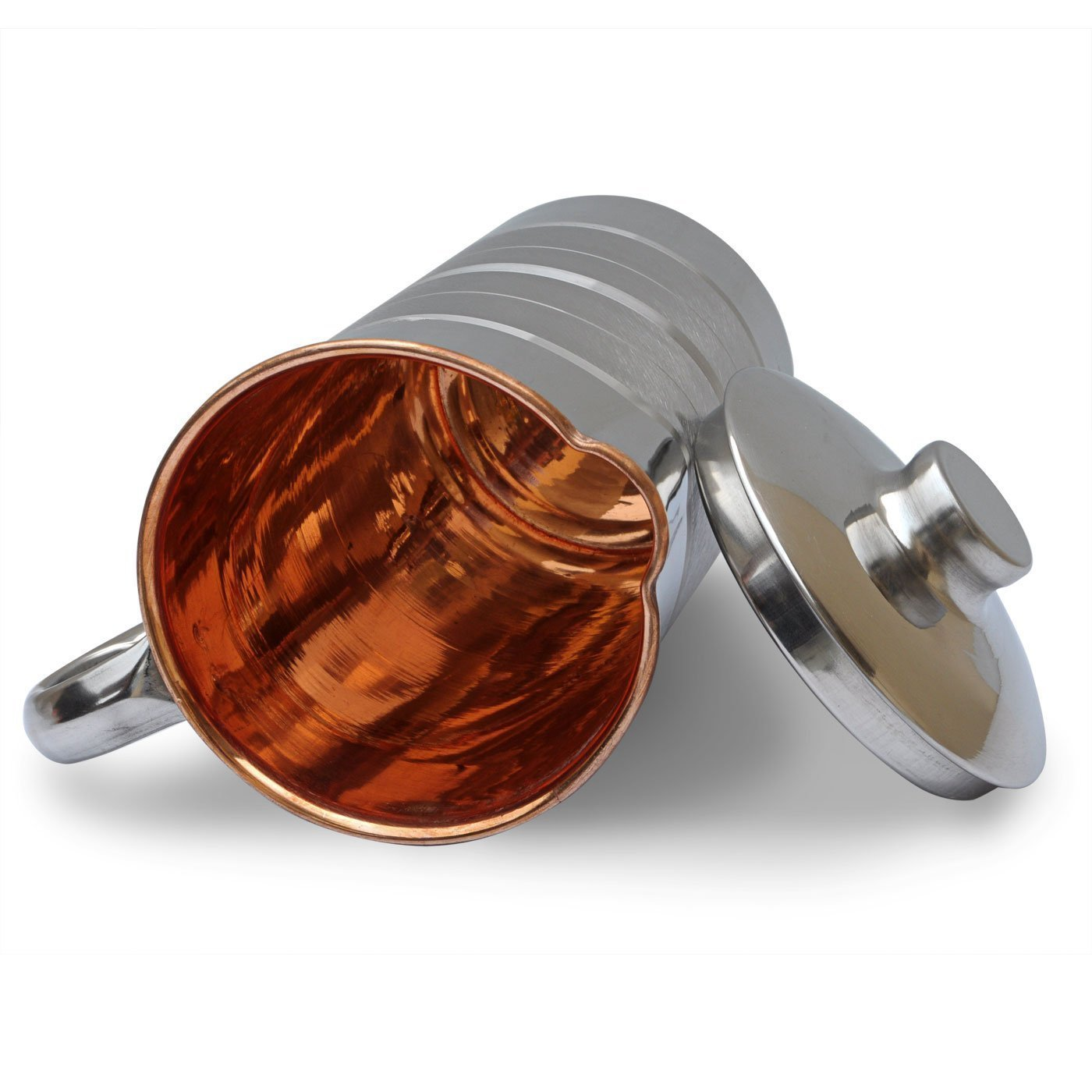 buena calidad y tama/ño perfecto ROYAL SAPPHIRE Jarra de cobre hecha a mano de acero de 1500 ml