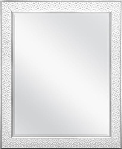 MCS 22×28 Inch Nordic Blossom, 27×33 Overall Size, White Mirror, 27 x 33 Inch,