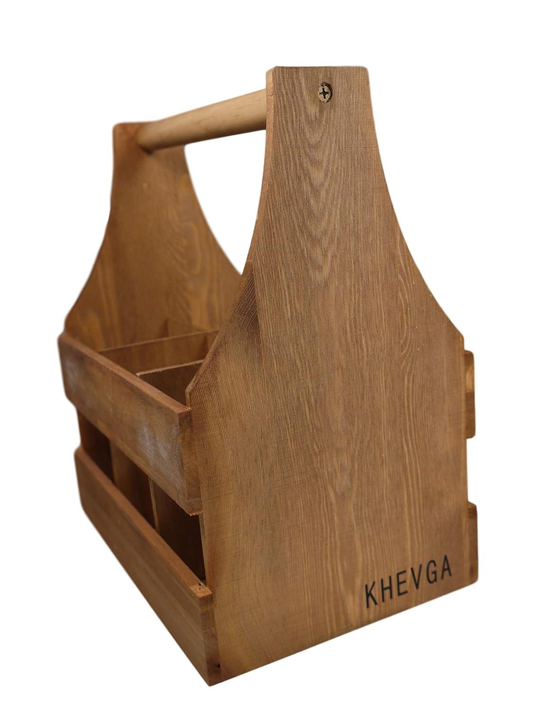 Khegva Panier /à Bouteilles en Bois avec Ouverture pour Bouteilles DE 0,5 l