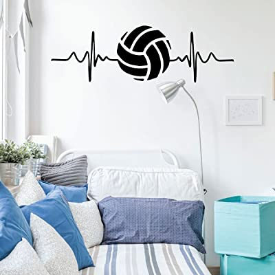 Volleyball Wall Decal - Heart Beat - Vinyl Art Decor for Bedroom or Playroom - Sports Decorations: Handmade