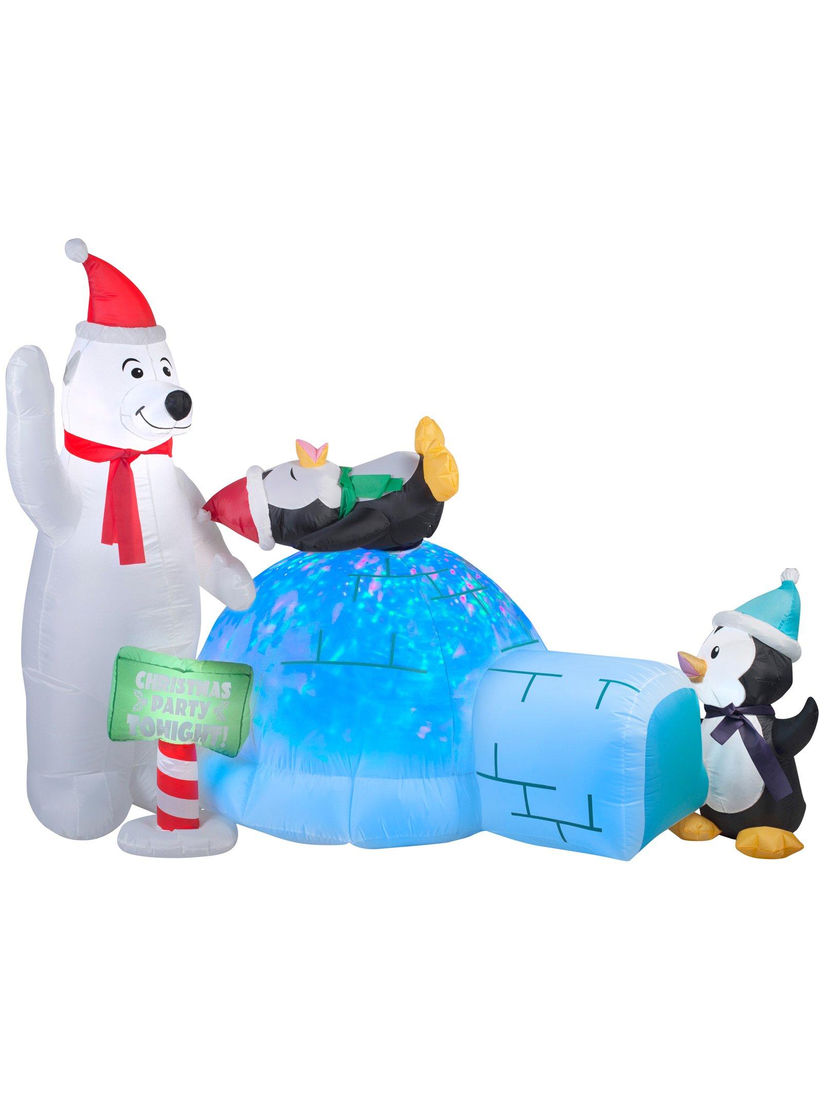 GEMMY INDUSTRIES 89898 Air blown Bear/Penguins