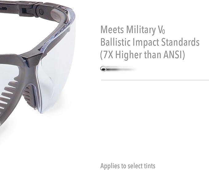 Uvextreme Anti-Fog Clear Lens Black Uvex Genesis Safety Glasses Advanced TPE #S3200X-ADV