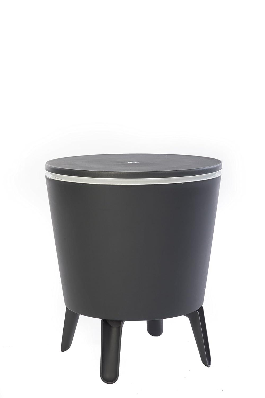 Keter Cool Bar, Beistelltisch mit Kühlmöglichkeit, Grau, 30L
