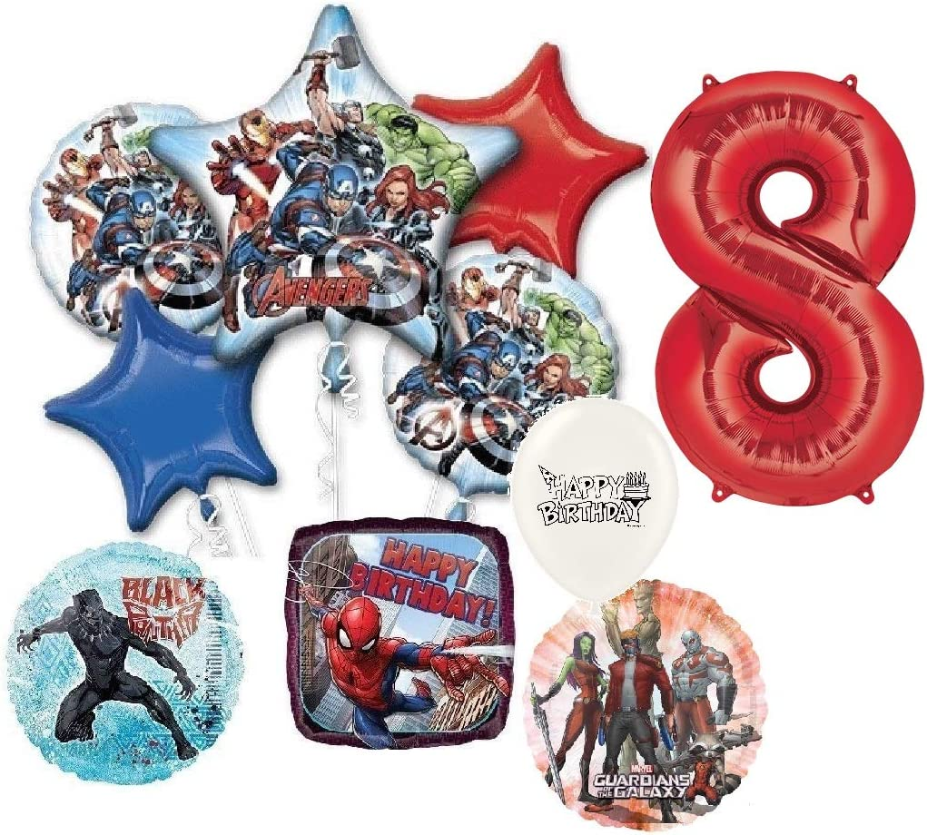 """12/"""" Spiderman Mix Colours Balloons Marvels Ultimate Kids Birthday Party Decor"""