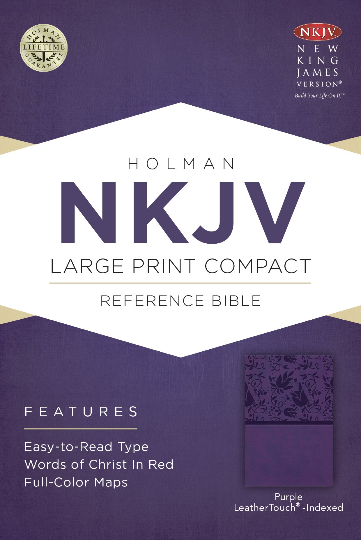 NKJV Large Print Compact Reference Bible, Purple LeatherTouch, Indexed pdf epub
