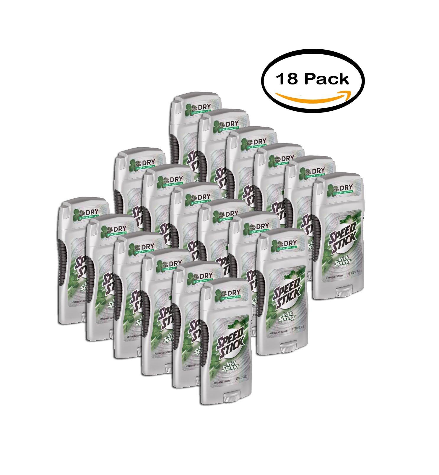 PACK OF 18 - Speed Stick Irish Spring Anti-Perspirant Deodorant, Original, 2.7 Oz
