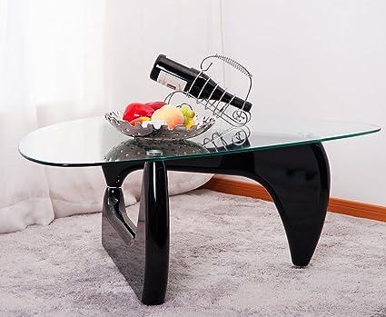 Amazoncom Merax Isamu Noguchi Style Coffee Table With Glass Top - Isamu noguchi style coffee table