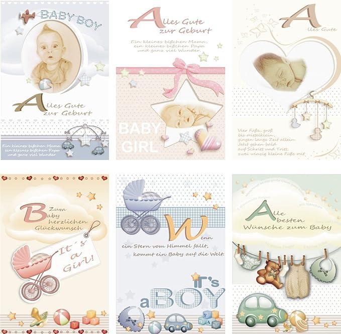 Tarjetas de felicitación para nacimiento 25 unidades Tarjetas de ...