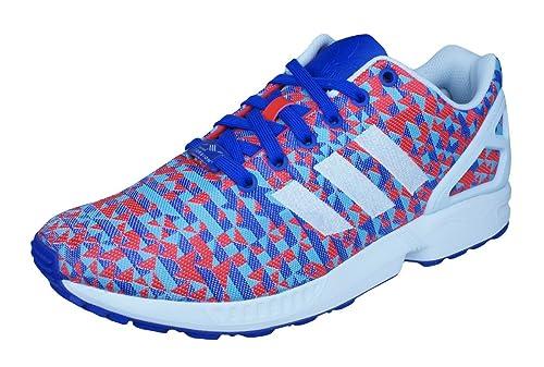 48afd2a2f2cb3 adidas Originals Women s Zx Flux Trainers Multi-Coloured Size  4 UK  Amazon. co.uk  Shoes   Bags