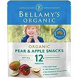 Bellamy's Organic Pear and Apple Snacks, 20g