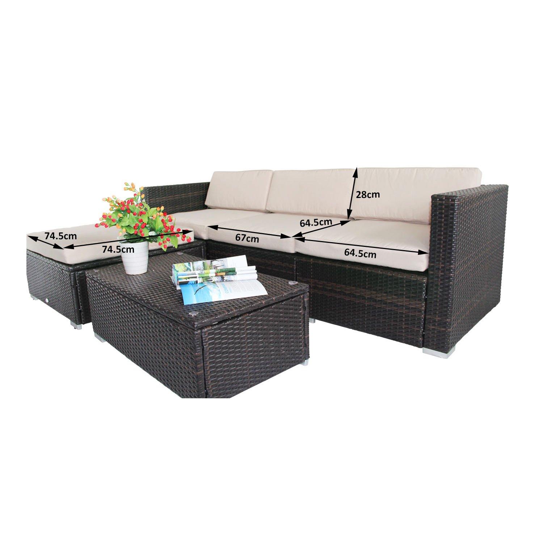Outsunny Rattan Garden Wicker Patio Furniture Cushion Cover Sofa Cover Replacement
