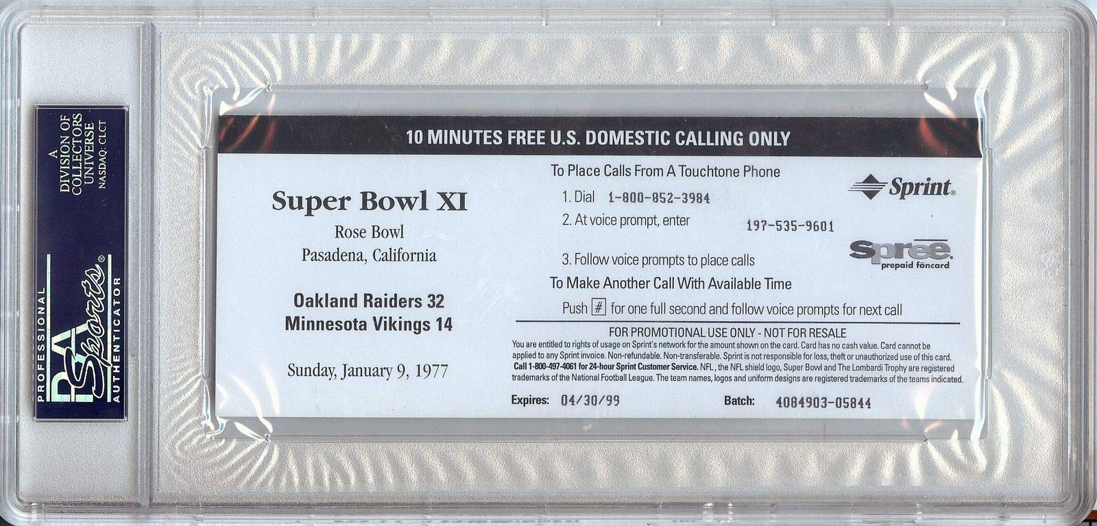 Tom Flores Autographed Signed 1977 Superbowl Replica Ticket Raiders PSA/DNA Authentic