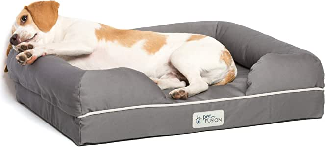 PetFusion Ultimate Dog Bed, CertiPUR-US Orthopedic Memory Foam, Size/Color Options, Medium Firmness Pillow, Waterproof Liner, YKK Zippers, Breathable 35% Cotton, Cert. Skin Contact Safe, 3yr. Warranty