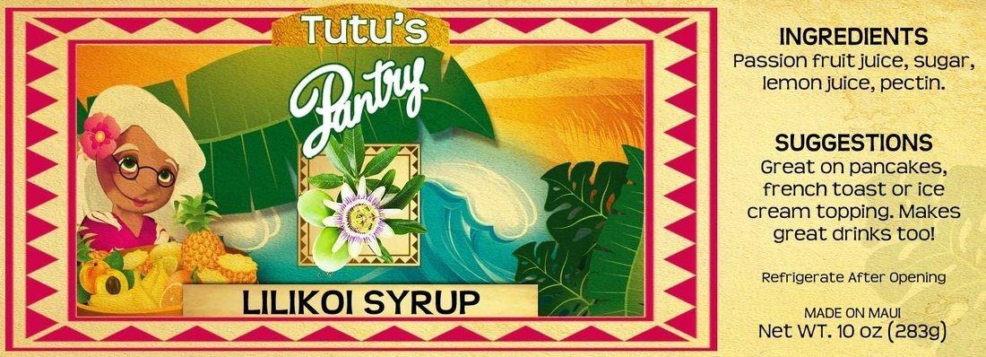 Hawaii Maui Value Pack Tutu's Pantry Lilikoi Passion Syrup 6 Bottles by Tutu's Pantry (Image #2)