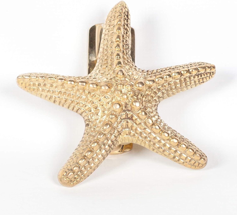 Polished Brass Starfish Door Knocker