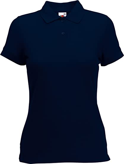 Lady-Fit Camiseta tipo polo para Mujer de Fruit of the Loom ...