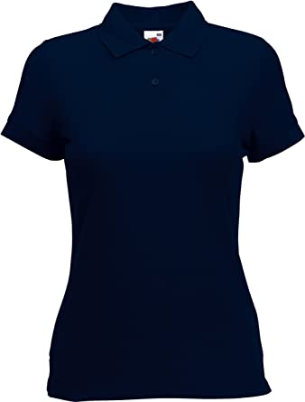 a7e3424bb837 Fruit of the Loom Damen Lady-Fit Poloshirt 65 35 XS S M L XL XXL  verschiedne Größen  Amazon.de  Bekleidung
