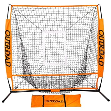Outroad Baseball Nets Batting \u0026 Pitching 5 x - Portable Practice Net w/Bow Amazon.com :