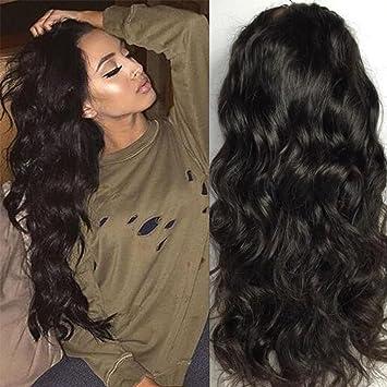 Maycaur Wave Full Lace Human Hair Wigs Long
