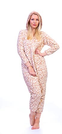Totally Pink Women's Plus Size Warm and Cozy Plush Adult Onesie ...