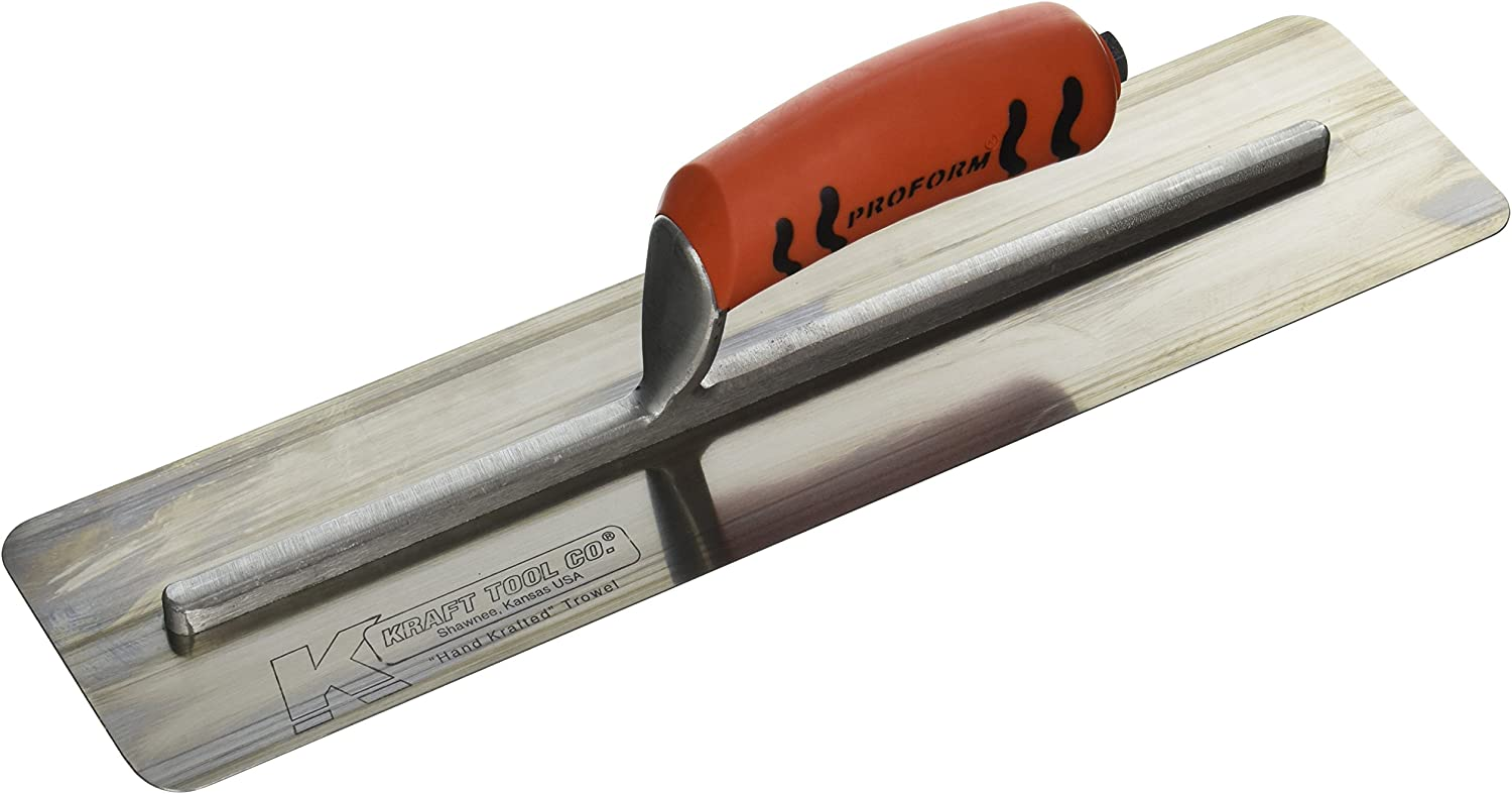 Kraft Concrete Finishing Pipe Trowel w//ProForm Handle Kraft Tool PL501PF