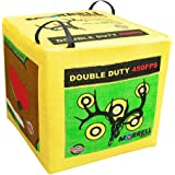 Morrell Double Duty 450 FPS 4 Sided Cube Field Point Archery Bag Target with Traditional Bullseyes, Nine-ball, Dartboard Game