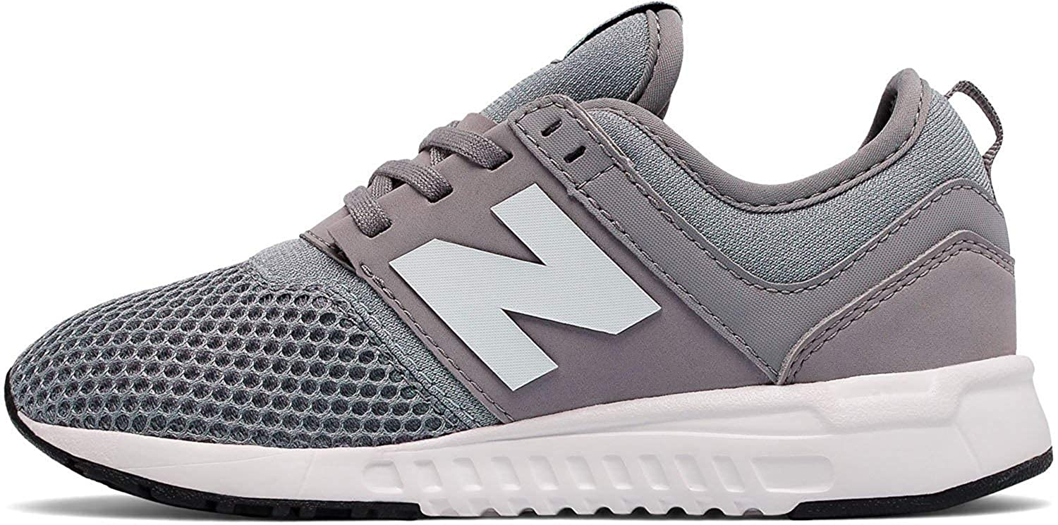 25c7747f8fb63 Amazon.com | New Balance KL247GRP: Little Kid Grey White 247 Sneakers |  Sneakers