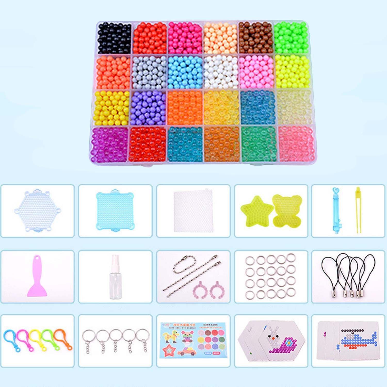6d02b7fd4d91 Aquabeads Abalorios Cuentas de Agua 2400 Perlas 15 Colors Hama Beads para  Niños Niños DIY Artesanía ...