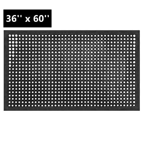 Amazon.com: z ztdm Rubber Floor Mat, 36 x 60 inch antifatiga ...