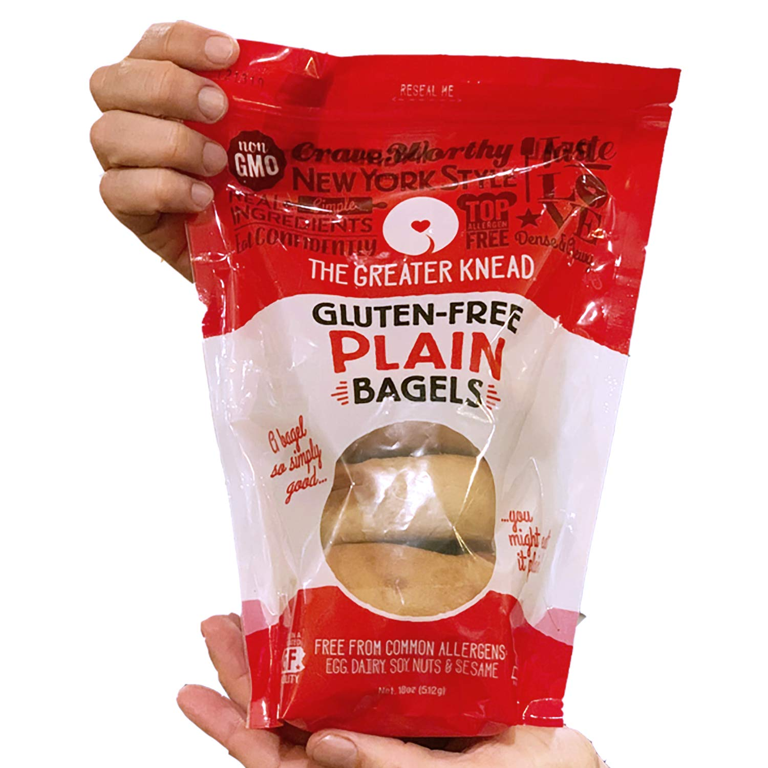 Greater Knead Gluten Free Bagel - Cinnamon Raisin - Vegan, non-GMO, Free of Wheat, Nuts, Soy, Peanuts, Tree Nuts (12 bagels) by The Greater Knead (Image #9)