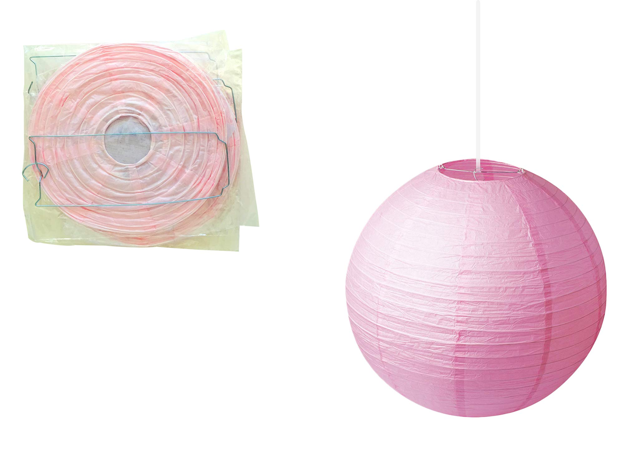 ATSON Baby Shower Decorations for Girl 41pc   It's A Girl & Baby Shower Banner   Tassels   Pompom Flowers   Balloons   Paper Lanterns   Honeycomb Balls   Pink,White,Yellow   Easy Assemble by Atson (Image #5)