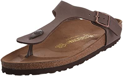 BIRKENSTOCK Gizeh Mocca Womens Leather Sandals-4 NmfbA7
