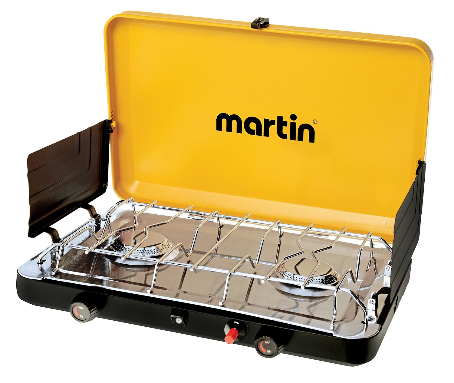 MARTIN 2 Burner Propane Stove Grill Gas 20 000 Btu Outdoor Trip Accessory Portable Advanced Features Propane Burner Csa Certified and Steady Performance by Martin