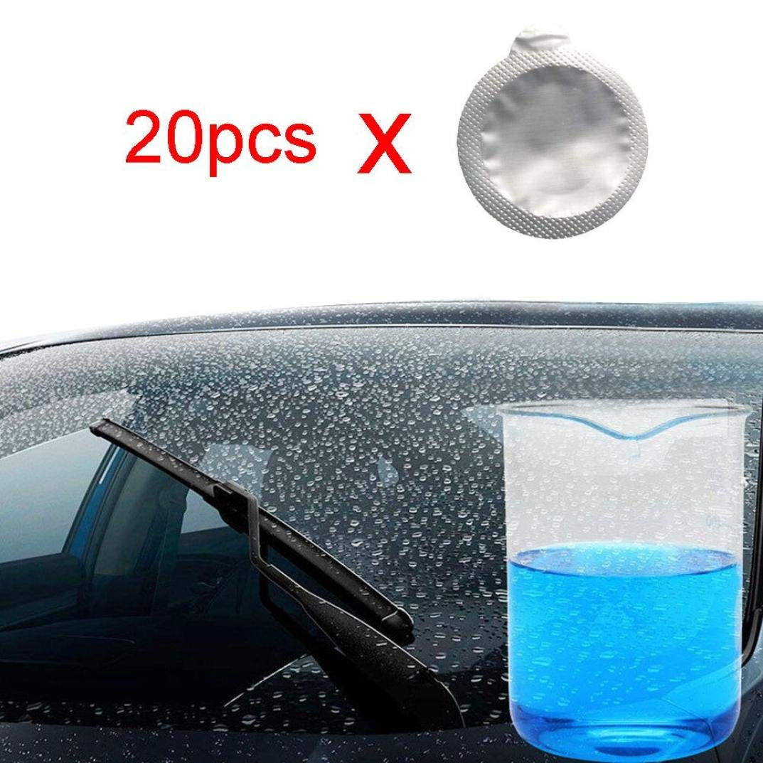 Quaanti 15 /20PCS Auto Car Windshield Glass Wash Cleaning Concentrated Effervescent Tablets (White/20PC)