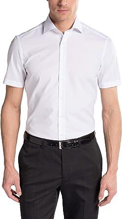 eterna Herren Businesshemd Slim Fit Kurzarm