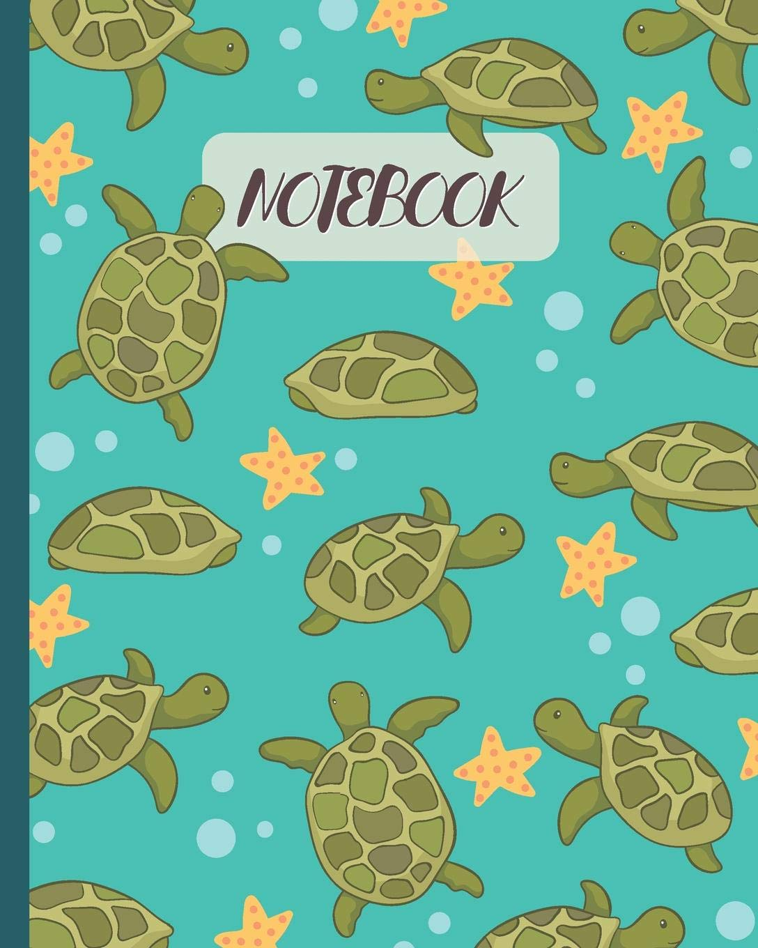 Notebook Cute Turtle Starfish Cartoon Lined Notebook Diary Track Log Journal Gift Idea For Kids Teens Men Women 8 X10 120 Pages Amazon Co Uk Happy Pattern Colorful 9781080948871 Books