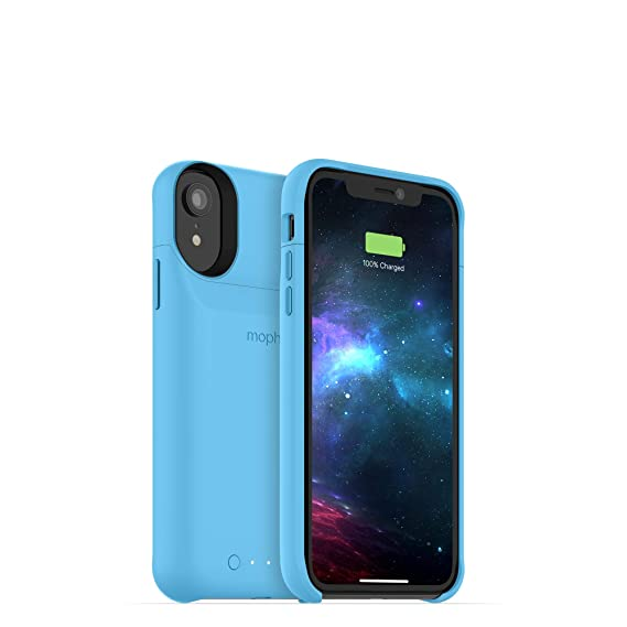 online store 55347 b0f1f mophie Juice Pack Access - Ultra-Slim Wireless Battery Case - Made for  Apple iPhone XR (2,000mAh) - Blue