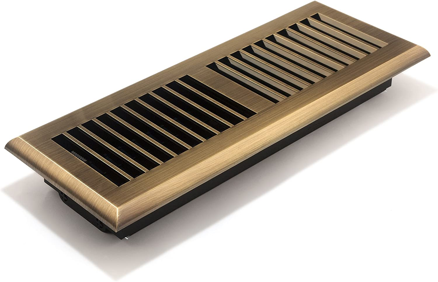Accord APFRABL412 Plastic Floor Register With Louvered Design, 4-Inch X 12-Inch(Duct Opening Measurements), Antique Brass Finish - Heating Vents - Amazon.com