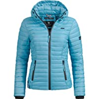 Marikoo Damen Übergangs-Jacke Jacke Steppjacke Samtpfote 19 Farben XS-XXL