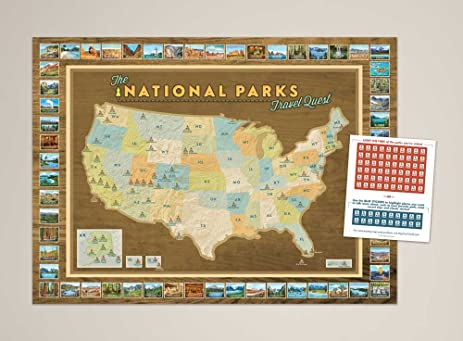 Amazon national parks travel quest poster wall art national parks travel quest poster gumiabroncs Gallery
